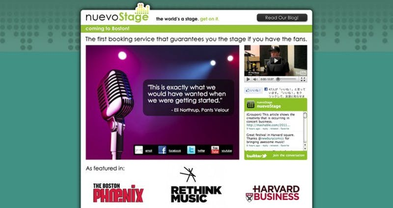 NuevoStage, which won $50,000 at the Rethink Music conference, will commence its operations by focusing on Boston music venues.