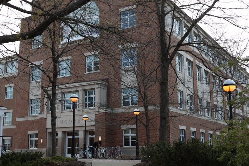 Moore Hall houses the psychological and brain sciences department.