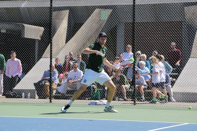 After being named Ivy League Player of the Year, Dovydas Sakinis '16 qualified for the NCAA singles championship.