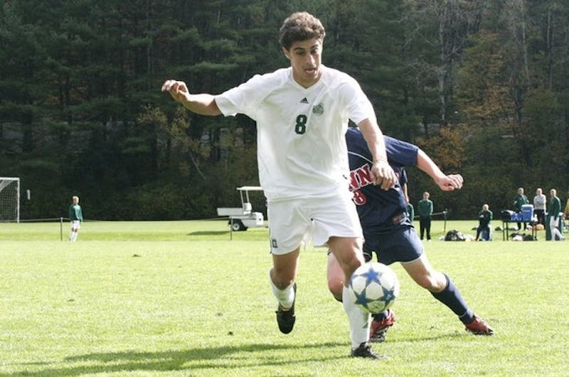 Mike Ordonez '08 and the men in green defeated first-place Penn for an important Homecoming victory.