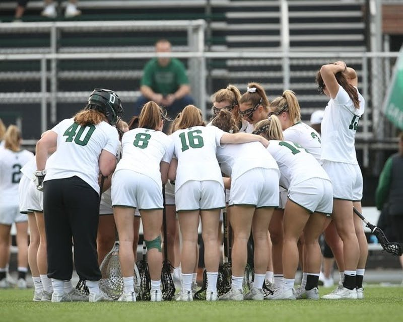 The women's lacrosse team started with a 5-0 record before its season was canceled due to the coronavirus pandemic.