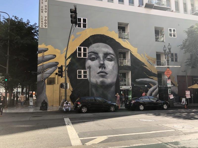 Downtown Los Angeles has striking art.