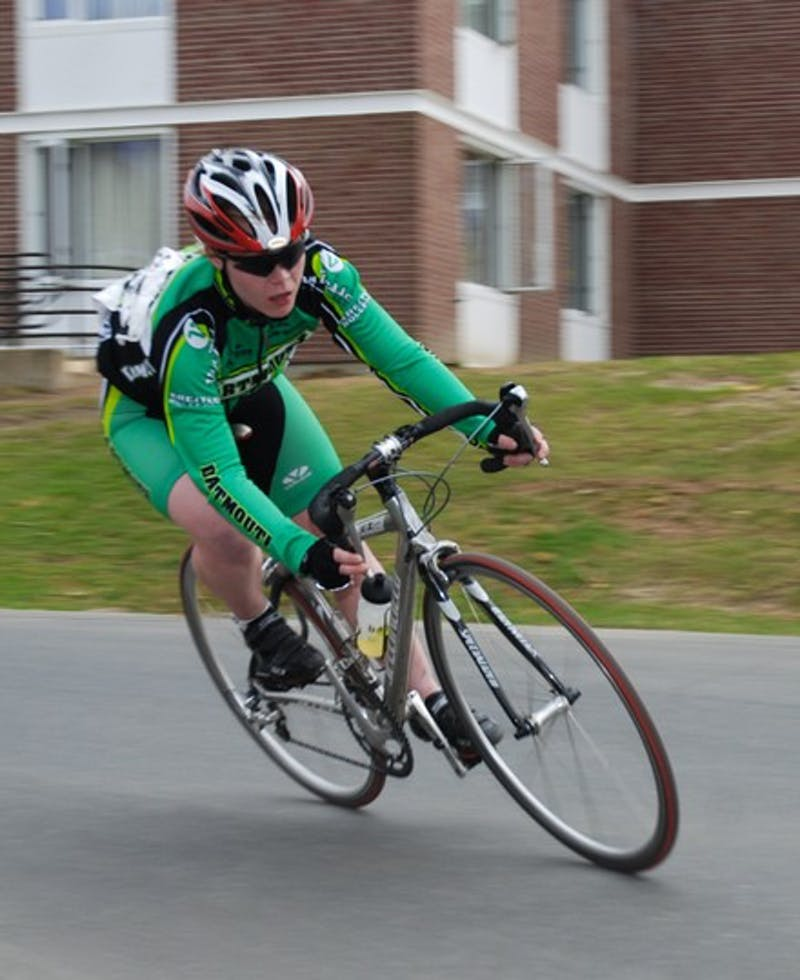 The women cyclers were the cornerstone of the Big Green cycling team at the collegiate championships. Dartmouth finished second out of 33 teams.