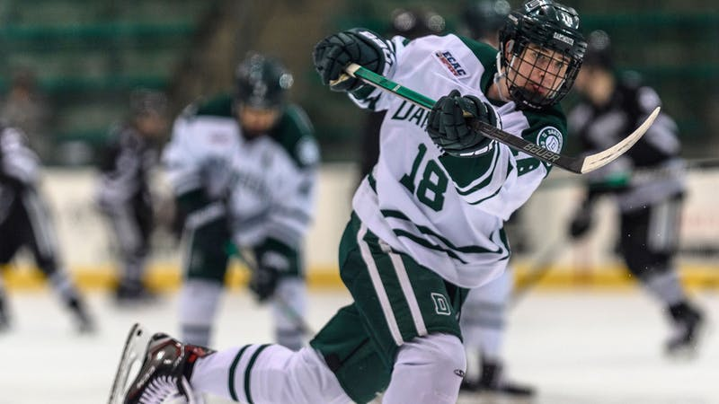 Forward Drew O'Connor was named the NCAA First Star of the Week after a six-point road trip in November.