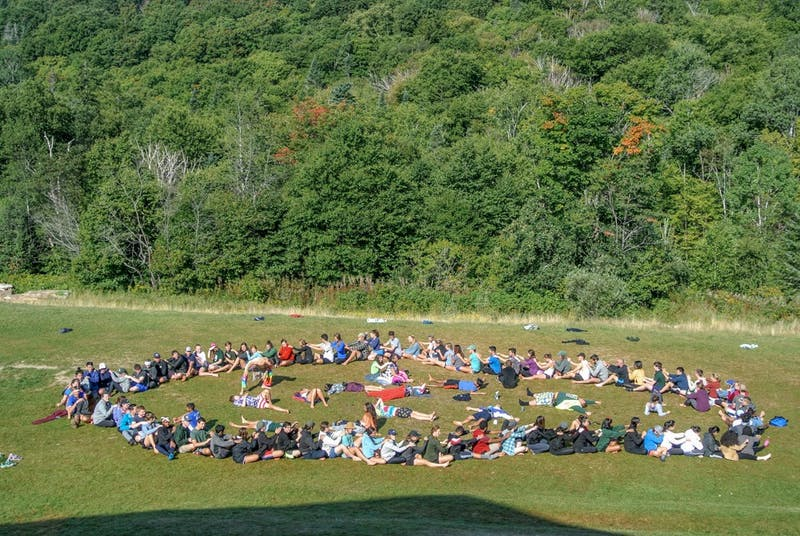 Members of the Class of 2020 participate in bonding activities at the Lodj during First-Year Trips.