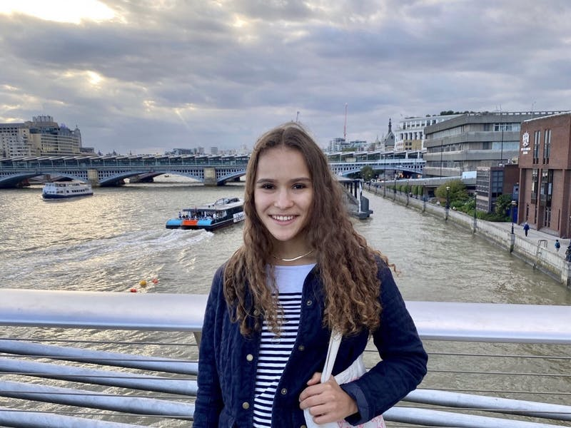Tahlia Mullen '22 explores London while on the Government FSP.
