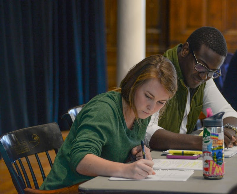 Frank Cunningham '16 and Julia Dressel '17 were elected Student Assembly president and vice president, respectively.