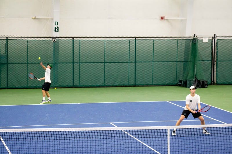 Casey Ross '21 and Peter Conklin '21 won both home doubles matches.