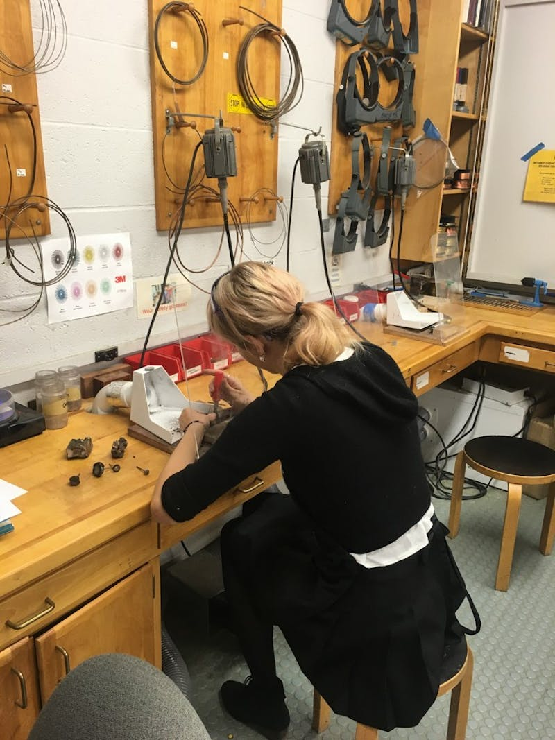 Campus resources like the jewelry studio at the Hop are adjusting to the remote environment.