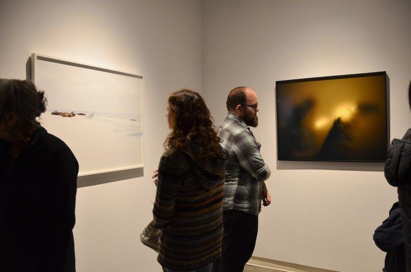 """Studio art exhibit """"Momentum"""" attracts viewers."""
