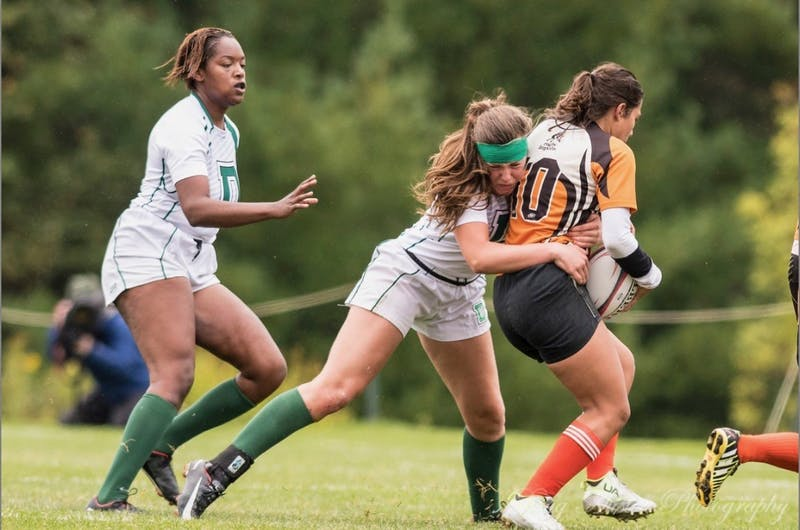 Five players from the women's rugby team earned national postseason honors from the National Intercollegiate Rugby Association on April 17.