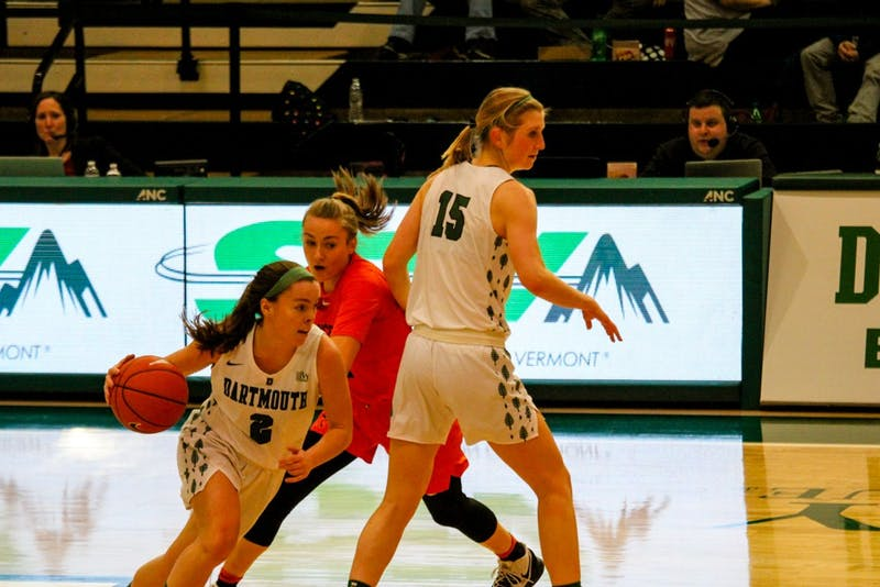 Annie McKenna led the Big Green in scoring this weekend, scoring 17 points against Cornell and 15 against Columbia.