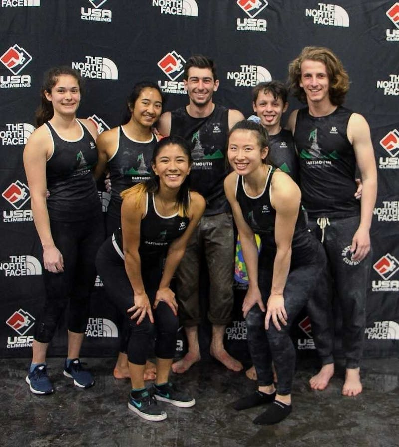The Dartmouth climbing team saw a lot of strong individual performances but fell just one point shy of third place.
