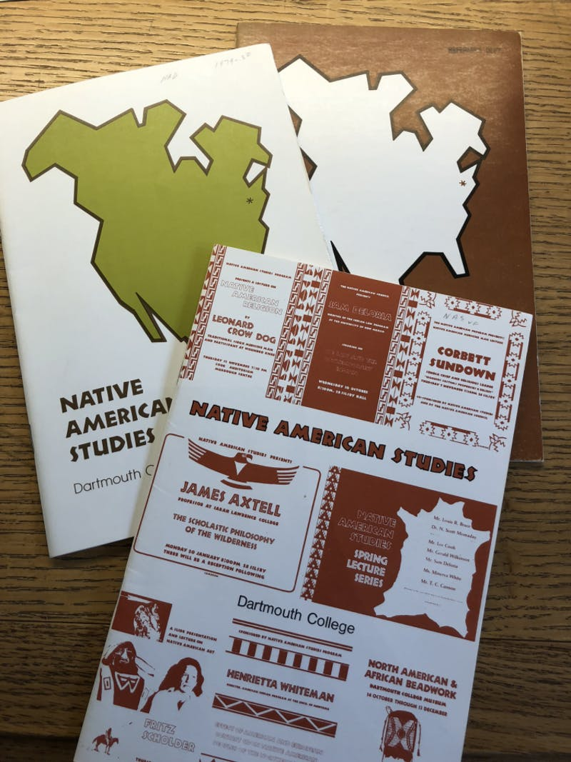 Native American Studies pamphlets from the program's first decade.