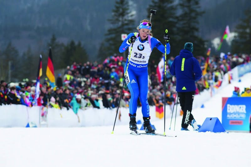 13.01.2018, Ruhpolding, Germany (GER):Emily Dreissigacker (USA) -  IBU world cup biathlon, relay women, Ruhpolding (GER). www.nordicfocus.com. © Manzoni/NordicFocus. Every downloaded picture is fee-liable.