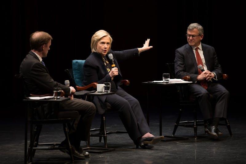 Clinton spoke with Montgomery Fellow Jake Sullivan and Dickey Center director Daniel Benjamin.