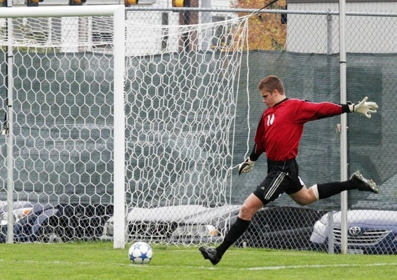 Keeper Rowan Anders '07 made five saves in a losing effort Wednesday.