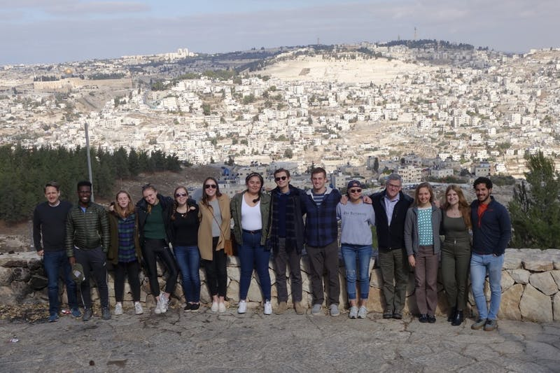The War and Peace Fellows visited Jerusalem during the trip.