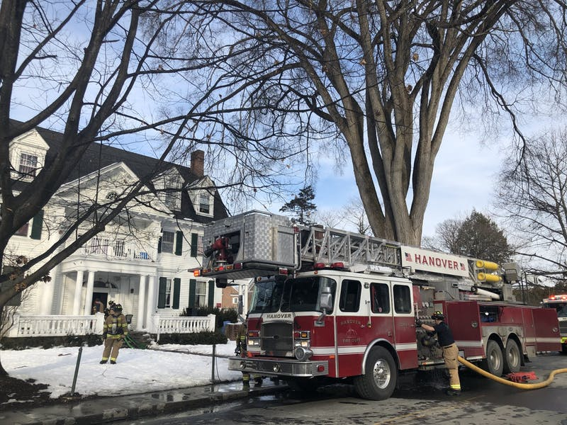 The Hanover, Hartford and Lebanon fire departments responded to a minor fire at Phi Delta Alpha fraternity on Sunday afternoon.