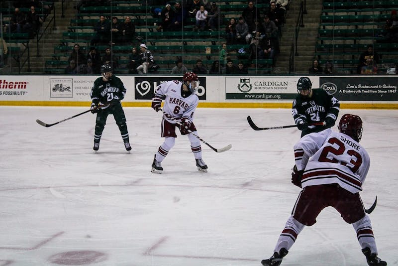 Men's hockey fell to Harvard on Friday, 6-2.