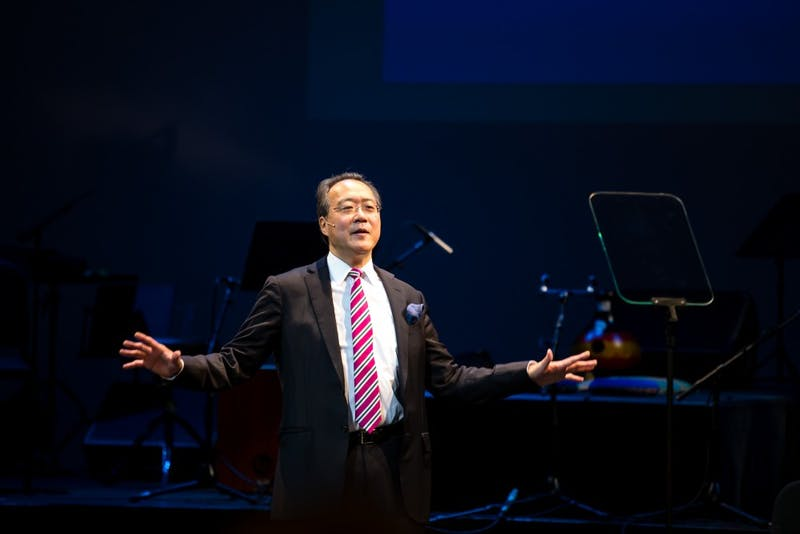 Yo-Yo Ma, who has served two stints as a Montgomery Fellow at Dartmouth, will be this year's main commencement speaker.