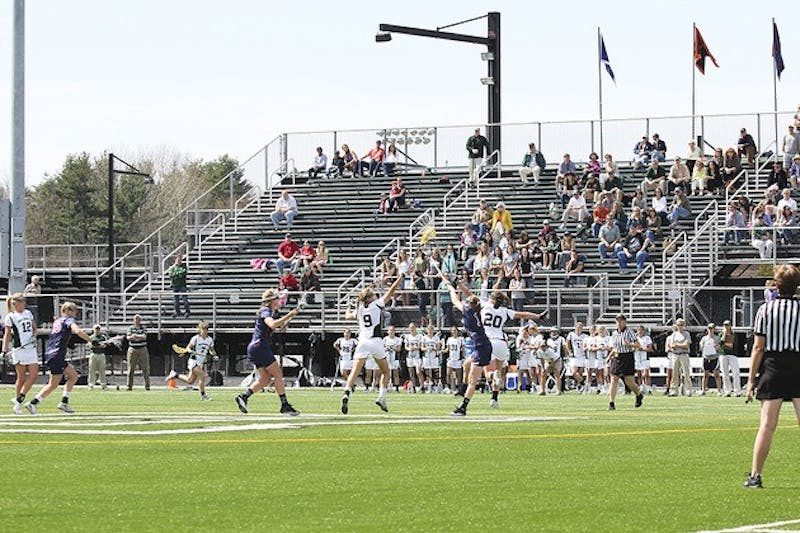 Sarah Plumb '12 scored three goals and broke a program record for draw controls against Penn.