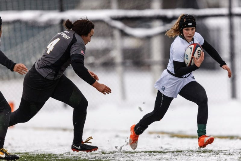 Women's rugby started the season strong with a win over Brown University.