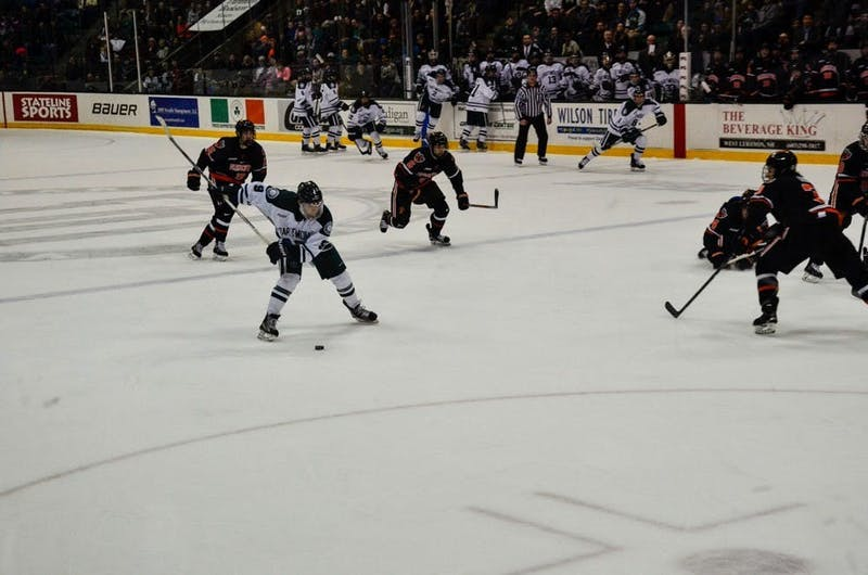 Despite holding a 2-1 lead over No. 1 Cornell in the second period Friday, the Big Green could not hold on.