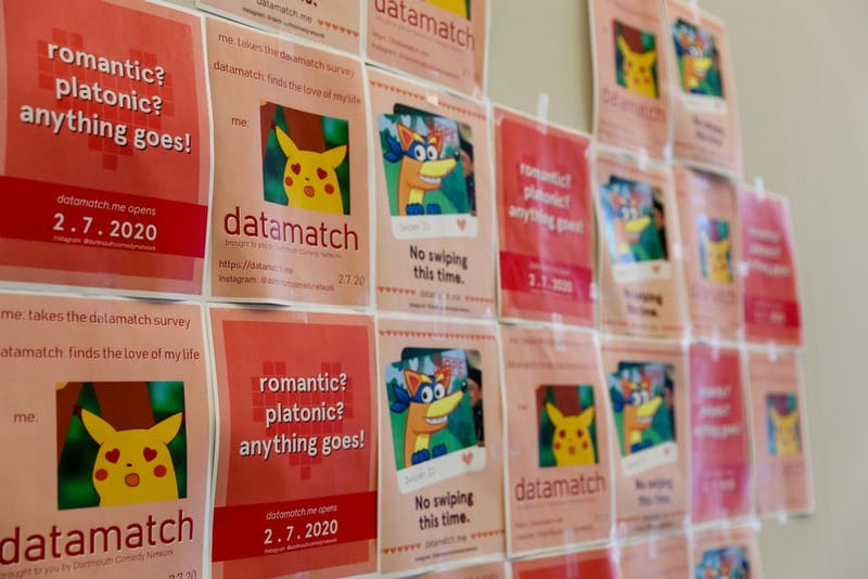 Datamatch provides both romantic and platonic matches — in a humorous way.