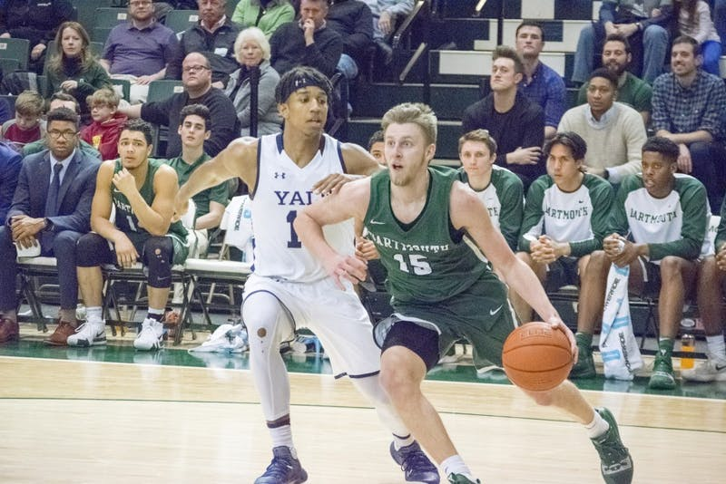 After fouling out of the game against Brown, Brendan Barry '20 scored nine points in Dartmouth's 89-68 loss to Yale.