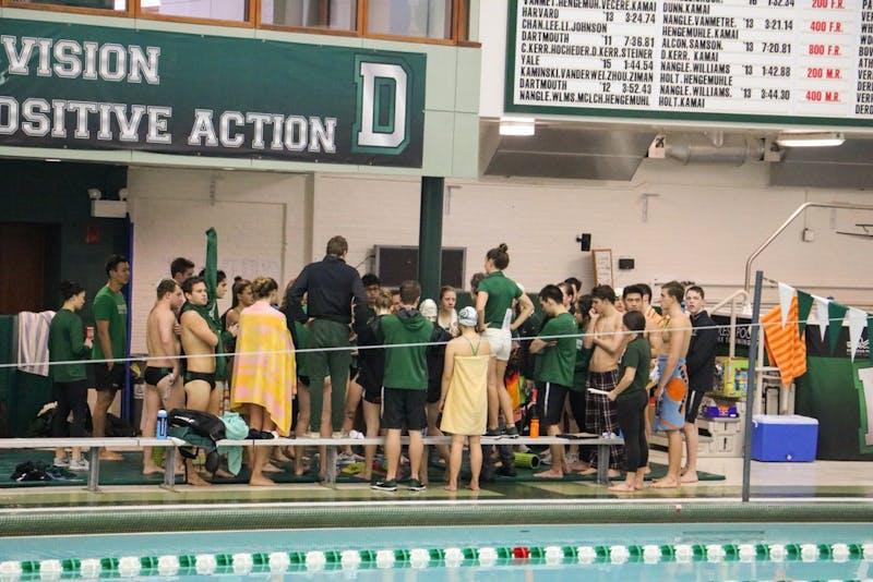 Swim meet vs penn vs yale
