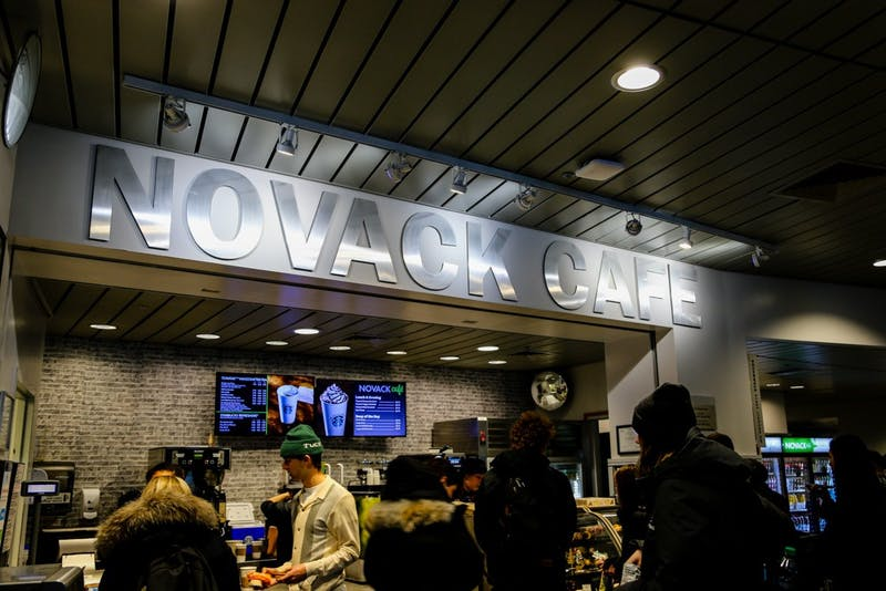 Novack Cafe is a major employer of students on campus.