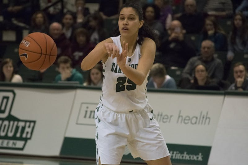 Isalys Quinones '19 scored 13 points in the Big Green's 56-52 loss to Penn on Saturday.