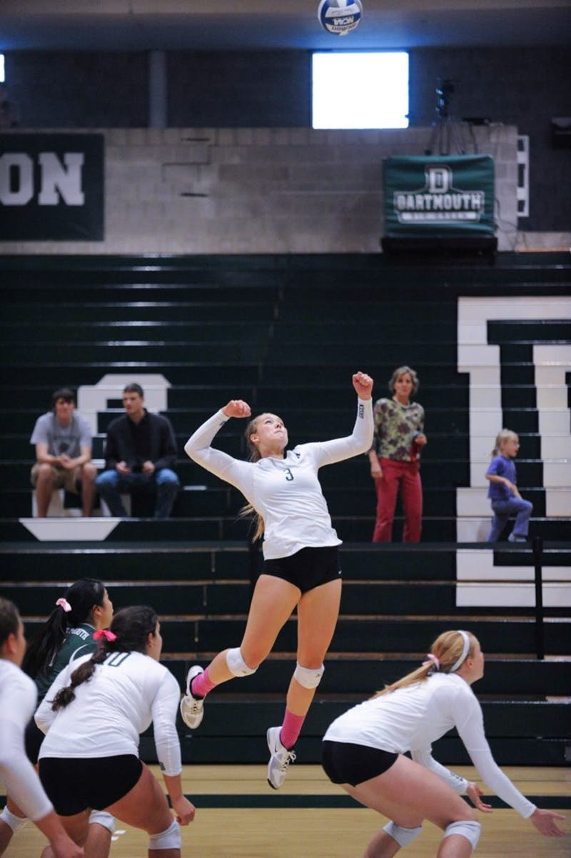 Sara Lindquist '18 recorded a total of 377 kills within her Dartmouth career.