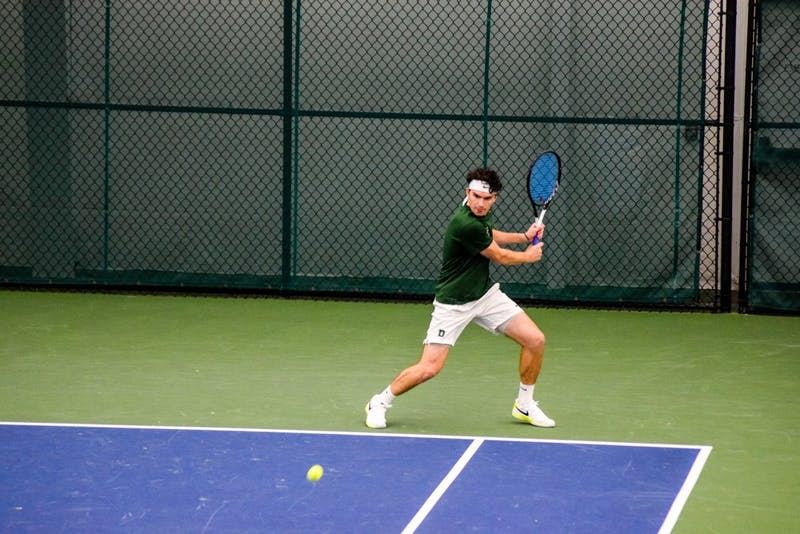The men's tennis team is off to a solid 6-0 start this season.
