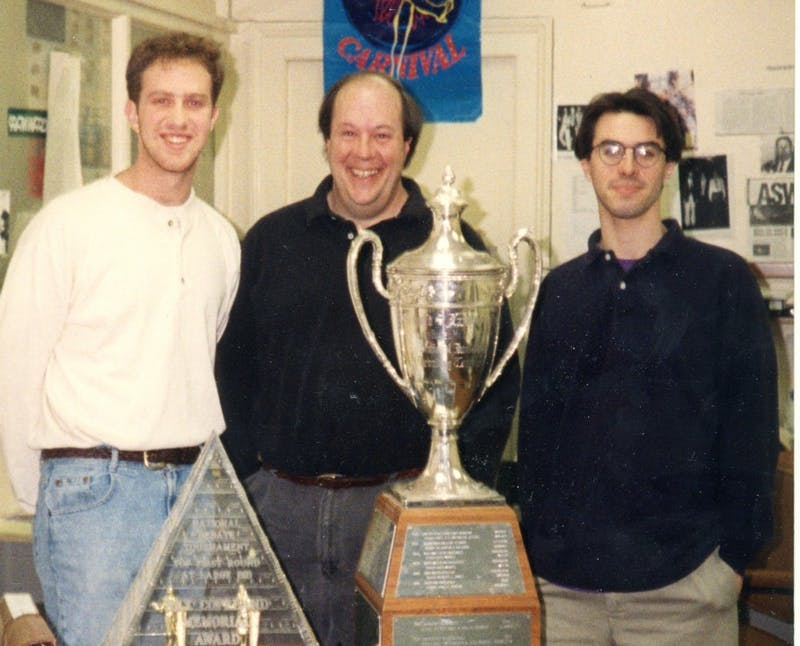 Strange, center, helped lead the Dartmouth Forensics Union to three National Debate Tournament championships.