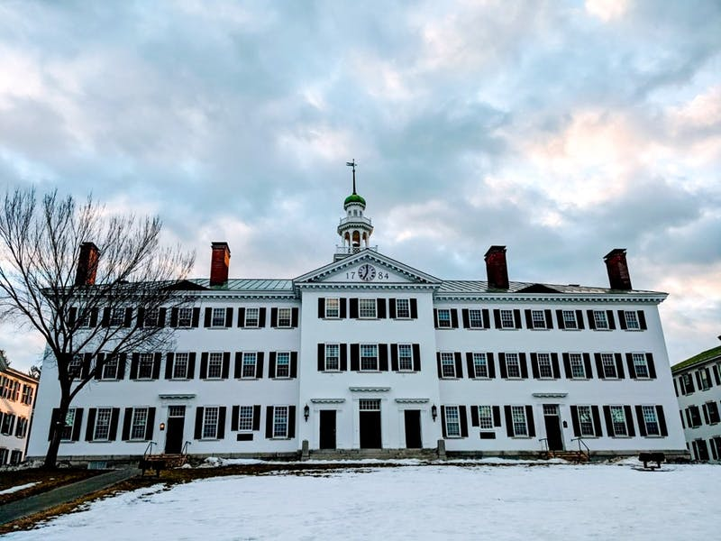 The college paced its fundraising goal of $25 million for Dartmouth Hall renovations.