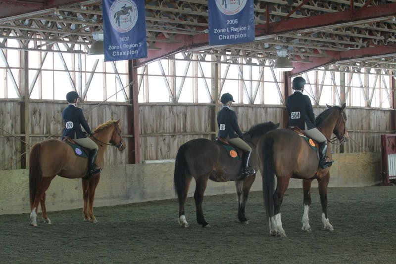 The Dartmouth Equestrian team officially became a women's varsity team in 2015 (photo from 2011).