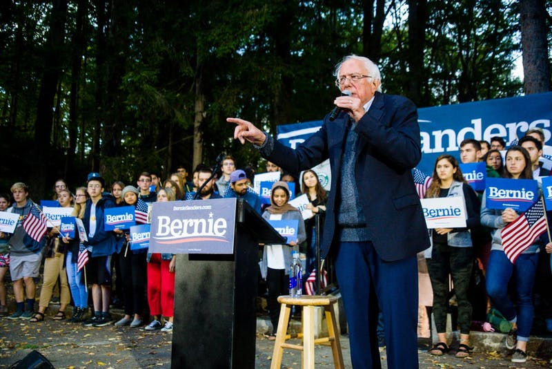 Sanders was the last of the major Democratic presidential candidates to have visited Dartmouth this past year.