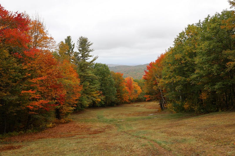 Leaf peepers can enjoy the scenic view at the Dartmouth Skiway.