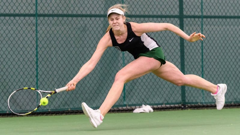 Jacqueline Crawford '17 served as a team captain her senior year and earned second team All-Ivy honors as a singles player.