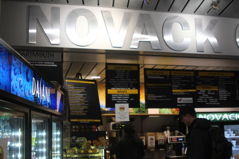 Novack Café, is located in the back of the library and is often open at late hours.