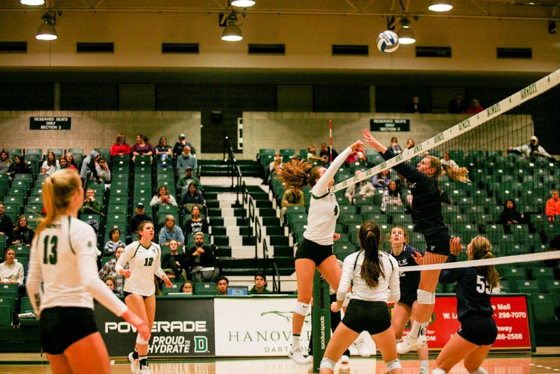 The Big Green volleyball team dropped home matches against Yale and Brown this weekend.