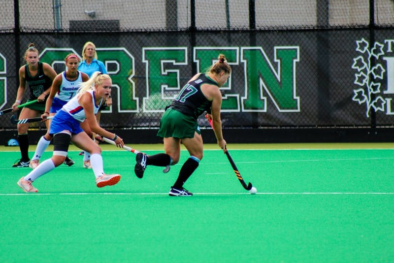 The field hockey team lost 4-3 to Penn on Saturday.