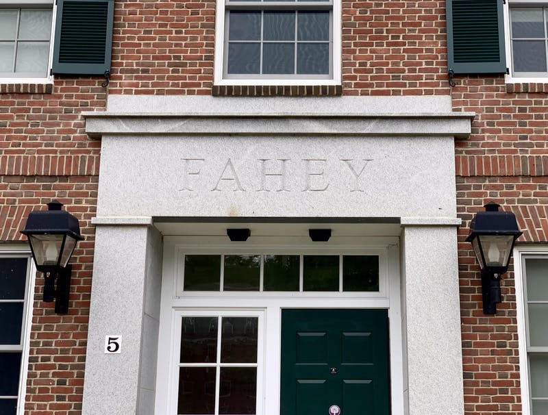 Fahey and McLane Halls are two of the residence halls where air conditioning was turned on at the end of spring.