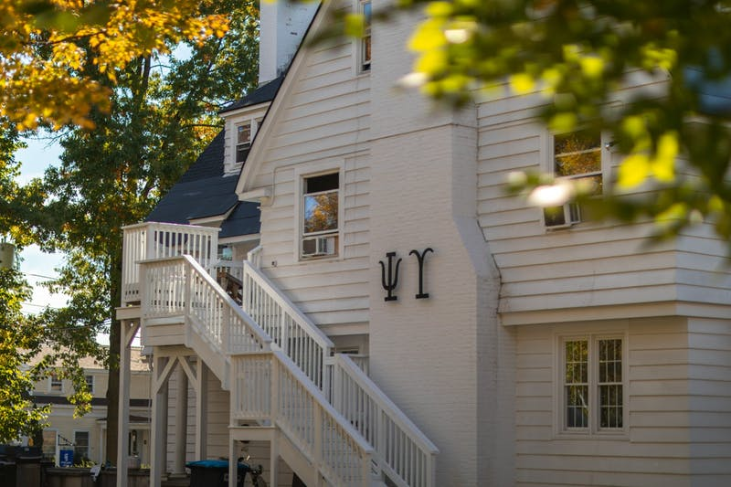 Psi Upsilon is among the many fraternity buildings ignored on campus tours.