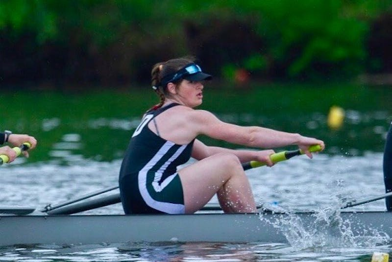 Rower Sophie Kamhi '21, an English major, is on the College's Third Honor Group, and plans to complete an honors thesis.