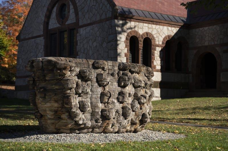 Ursula von Rydingsvard, Wide Babelki Bowl, 2007, cedar. Gift of Margarit and Jens Jacobs; 2019.90. © Ursula von Rydingsvard.