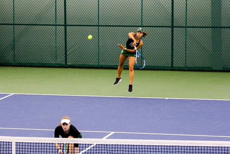 The women's tennis team dominated against Binghamton University on Friday.