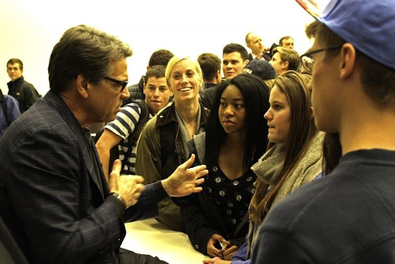 Gov. Rick Perry, R-Texas, spoke to students Sunday night.